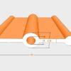 PVC วอเตอร์สต๊อป A10a 10 นิ้ว 3 ปุ่ม หนา 5 มม.